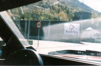 Entering Andorra - countrybagging.com