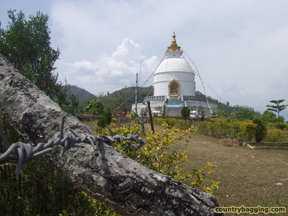 World Peace Pagoda, Pokhara - www.countrybagging.com