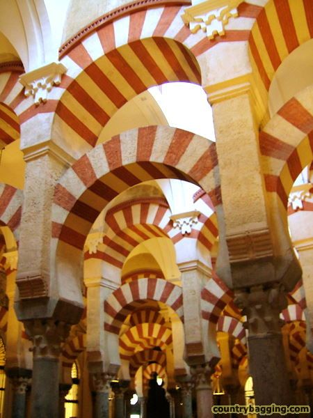 Arches in the Mezquita - www.countrybagging.com