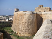 Il-Kastell walls, Rabat - countrybagging.com