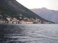 Perast from the Bay of Kotor - www.countrybagging.com