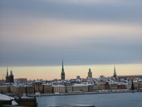 Stockholm dusted with snow - www.countrybagging.com