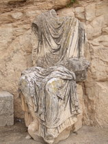 Statue at Dougga - www.countrybagging.com