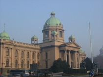 Serbian Parliament Building - countrybagging.com